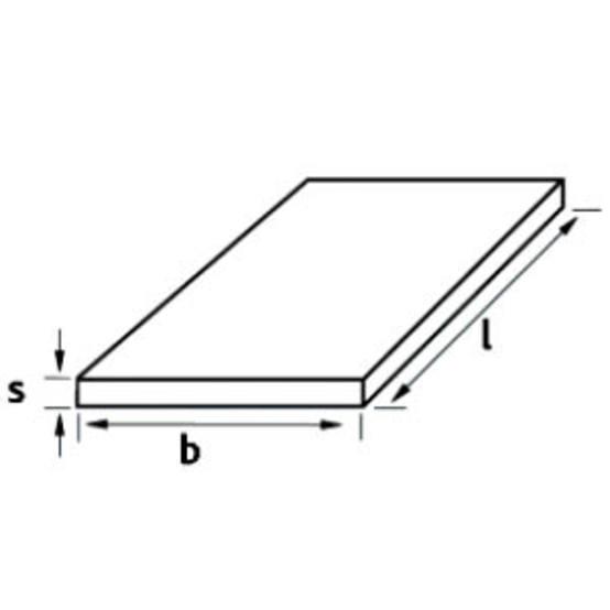 ZUSCHNITT Aluminiumplatte 1000x50x10mm Hochfest AlZnMgCu1,5 Alu Aluminum AW-7075